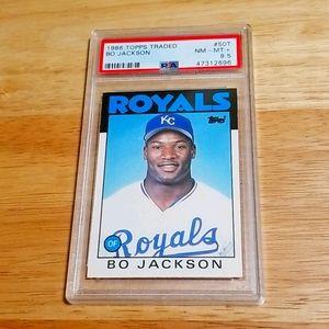 1986 Bo Jackson RC - Topps traded # 50T - PSA 8.5